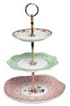 We  hire antique items to weddings, such as this cake stand